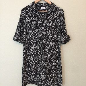 Old Navy Hearts Print Button Front Dress Small